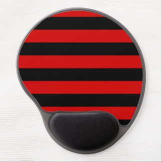 Stripes - Black and Rosso Corsa Gel Mouse Pad