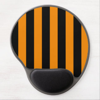 Stripes - Black and Tangerine Gel Mouse Pad