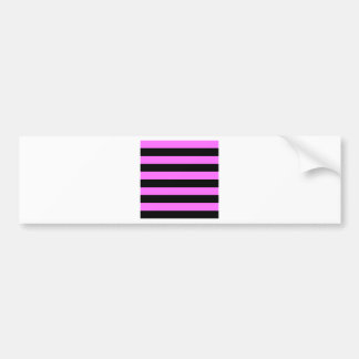 Stripes - Black and Ultra Pink Bumper Stickers