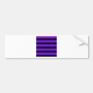 Stripes - Black and Violet Bumper Sticker