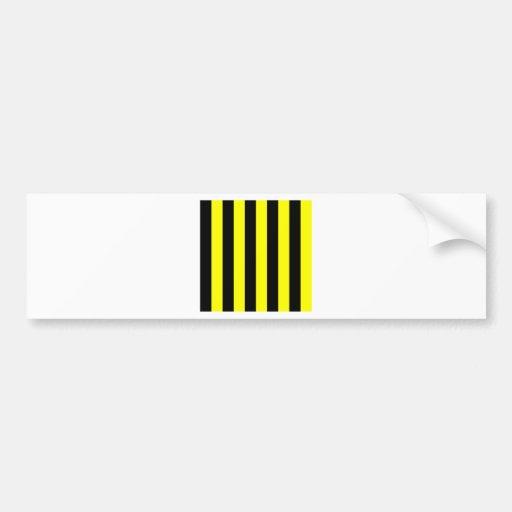 Stripes - Black and Yellow Bumper Sticker