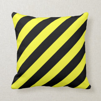 Yellow And Black Decorative Pillows : Black And Yellow Striped Cushions - Black And Yellow Striped Scatter Cushions Zazzle.com.au
