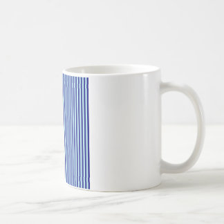 Stripes - Blue 2 - Pale Blue and Navy Blue Coffee Mugs