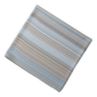 Stripes - Blue and Brown Bandana