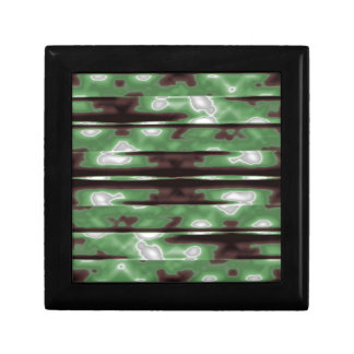 Stripes Camo Pattern Print Gift Box