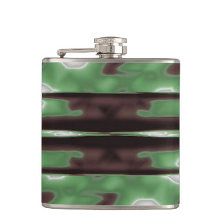 Stripes Camo Pattern Print Hip Flask