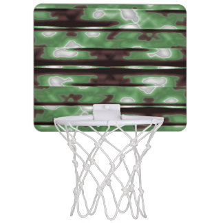 Stripes Camo Pattern Print Mini Basketball Hoop