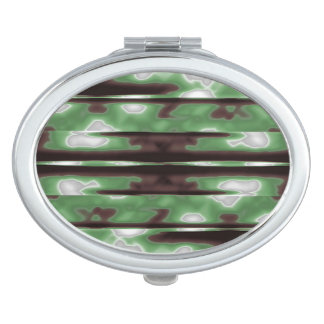 Stripes Camo Pattern Print Mirror For Makeup