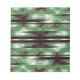 Stripes Camo Pattern Print Notepad