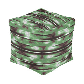 Stripes Camo Pattern Print Pouf