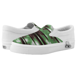 Stripes Camo Pattern Print Printed Shoes