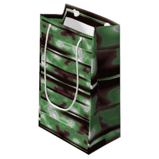 Stripes Camo Pattern Print Small Gift Bag