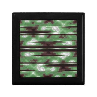 Stripes Camo Pattern Print Small Square Gift Box