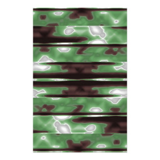 Stripes Camo Pattern Print Stationery