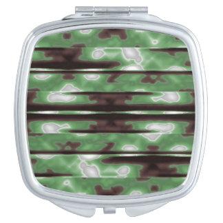 Stripes Camo Pattern Print Vanity Mirror