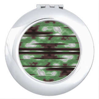 Stripes Camo Pattern Print Vanity Mirrors