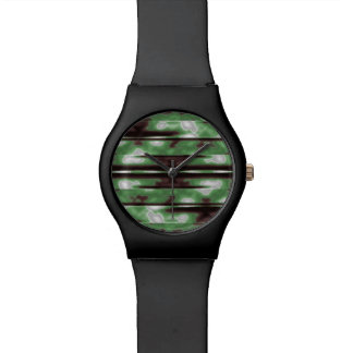 Stripes Camo Pattern Print Watch