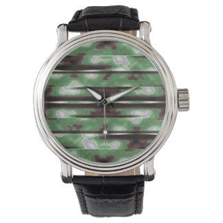 Stripes Camo Pattern Print Watch