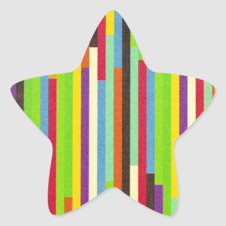 Stripes colorful abstract retro pattern background star sticker