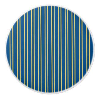 Stripes Design - Blue & Yellow - Drawer Knob