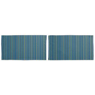 Stripes Design in Lapis Blue & Primrose Yellow Pillowcase