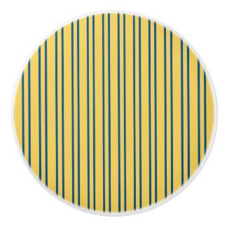 Stripes Design - Yellow & Blue - Drawer Knob