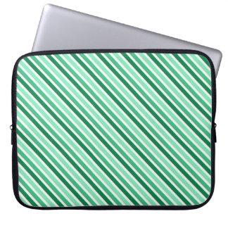 Stripes Designer Laptop Sleeve:Green Laptop Sleeve