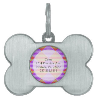 Stripes, Diamonds, Spot Pattern by Shirley Taylor Pet Tag