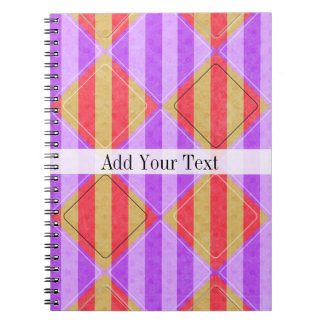 Stripes, Diamonds, Spot Pattern by Shirley Taylor Spiral Notebook