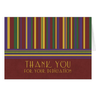 Stripes Employee Appreciation Thank You Card