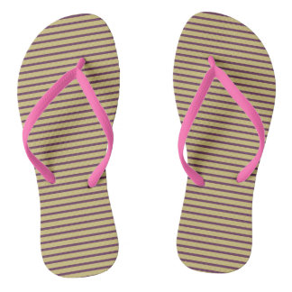 Stripes Girly Pink Cute Simple Trendy Stylish Chic Thongs