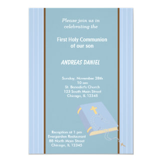 Stripes Holy Communion Card