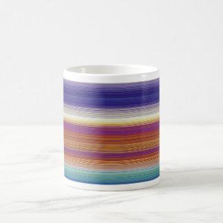 Stripes horizontal colors basic white mug