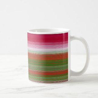 Stripes horizontal green mug