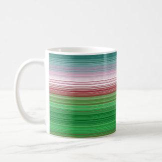 Stripes horizontal green coffee mug