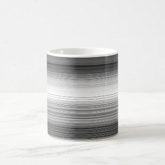 Stripes horizontal grey basic white mug