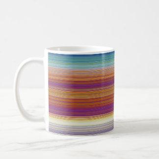 Stripes horizontal orange basic white mug
