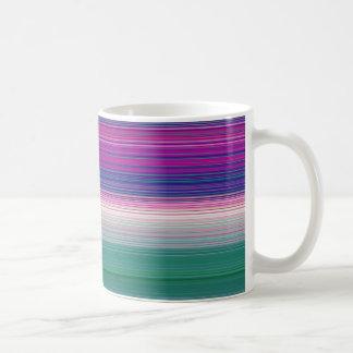 Stripes horizontal violet coffee mugs