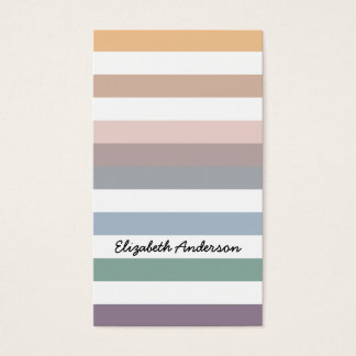 Stripes In Hot Fall Natural Beach Colors Business Card