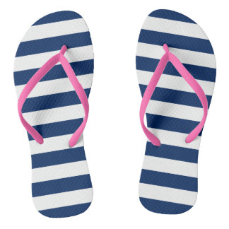 Stripes in Navy   Sandals Thongs