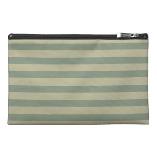 Stripes in Olive Green 04 Travel Accessory Bag