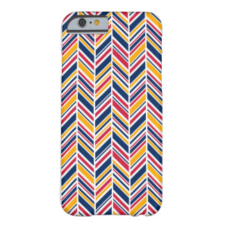 Stripes in red, blue and yellow barely there iPhone 6 case