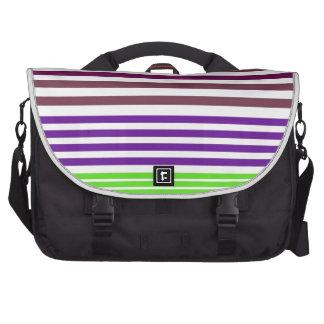 stripes laptop messenger bag