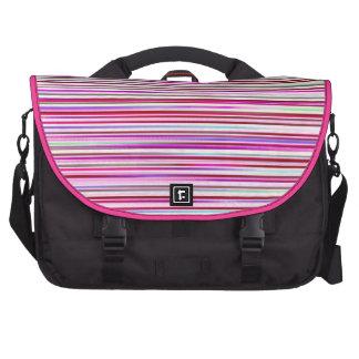 stripes computer bag