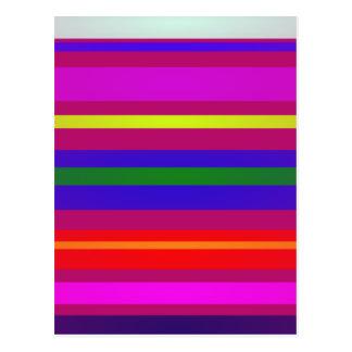 Stripes Layers Postcard