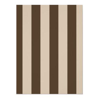 Stripes - Light Brown and Dark Brown Custom Announcement