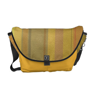 STRIPES & LINES in SunnySide colors leather print Courier Bag