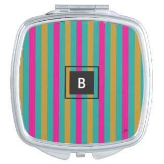 Stripes Monogram Vanity Mirrors
