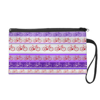 stripes of bikes wristlet
