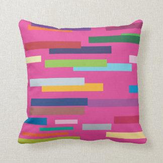 Stripes of Colour  American Mojo Pillow/Cushion Throw Cushion